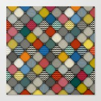 buttoned patches Canvas Print