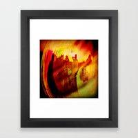 The Fire Framed Art Print
