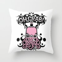 Oh Crab! (patterned) Throw Pillow