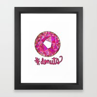 #donuts Framed Art Print