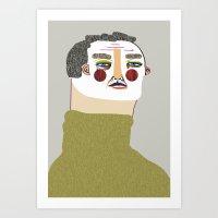 Man Illustration. Art Print