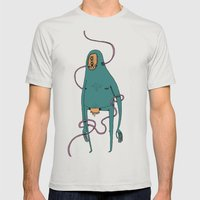 Vector monster Mens Fitted Tee Silver SMALL