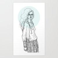 Teal Nimbus Art Print