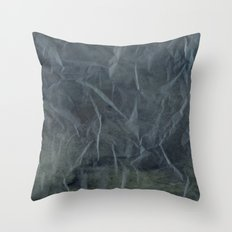 Steel Blue Paper Texture Throw Pillow
