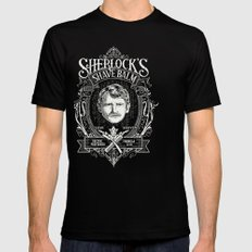 Sherlock's Shave Balm Mens Fitted Tee Black SMALL