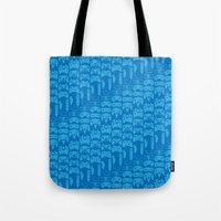 Video Game Controllers - Blue Tote Bag
