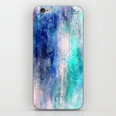 Winter Abstract Acrylic Textured Painting iPhone & iPod Skin