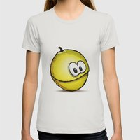 PASSION FRUIT | PARCHITA Womens Fitted Tee Silver SMALL