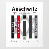 Auschwitz. Never again. Art Print
