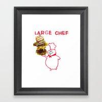 Large Chef Framed Art Print