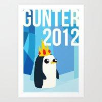 Gunter for Ice King 2012! Art Print