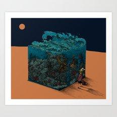The ocean I met in desert Art Print