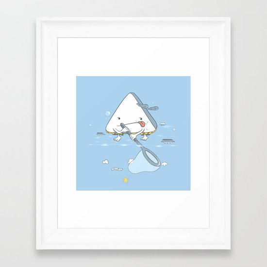 Cleaning the Pool Framed Art Print