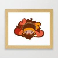 Bee-J Color Framed Art Print