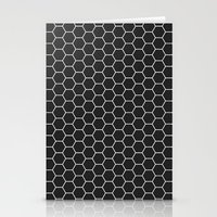 Black Hex Stationery Cards