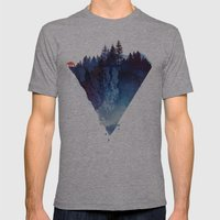 Near To The Edge Mens Fitted Tee Athletic Grey SMALL