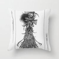 Death Gown Throw Pillow