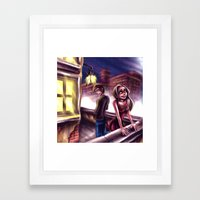 On The Rooftop Framed Art Print
