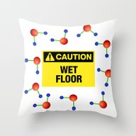Wet Floor Throw Pillow