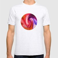 Fiery Swirl Mens Fitted Tee Ash Grey SMALL