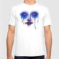 Blue Eyes Mens Fitted Tee White SMALL