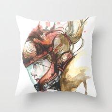 Zero Laser Throw Pillow