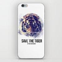 Save the Tiger  iPhone & iPod Skin
