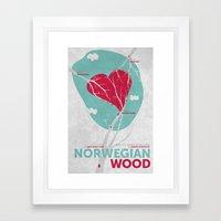 Norwegian Wood Framed Art Print