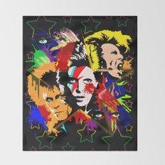 Bowie PopArt Metamorphosis Throw Blanket