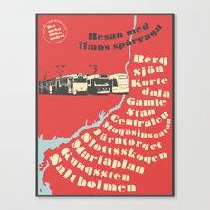 Resan med spårvagn 11 Canvas Print