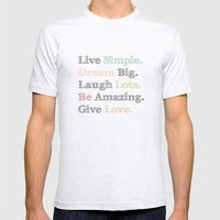 Inspiration Typography Quote Words Pastel  Mens Fitted Tee Ash Grey SMALL