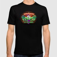 Oysters In A Halfshell Mens Fitted Tee Black SMALL
