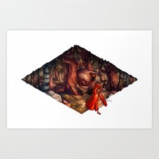 Sweetest Tooth has Sharpest Claw Art Print