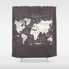 The World Map Shower Curtain