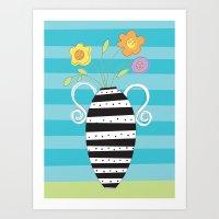Whimsy Graphic Vase Art Print