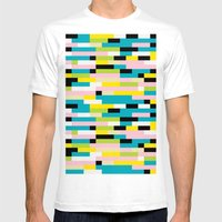Block It Mens Fitted Tee White SMALL