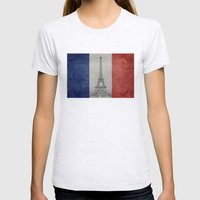 Distressed National Flag… Womens Fitted Tee Ash Grey SMALL