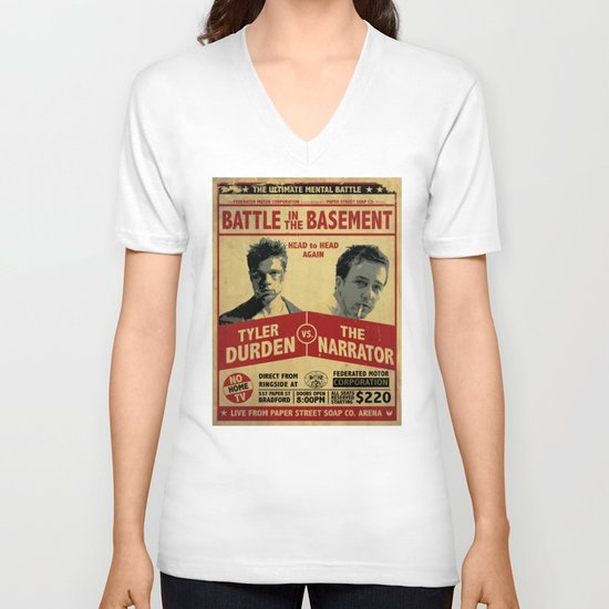 Fight Club Fight Poster V-neck T-shirt