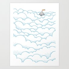 Peak above the clouds Art Print