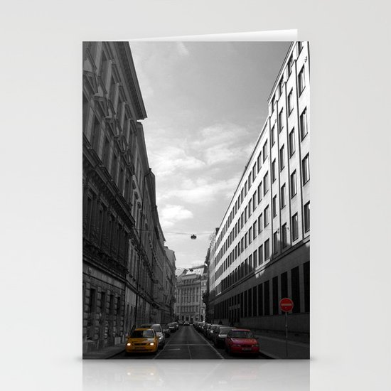 The Streets of Prague - Colour Composite Stationery Card