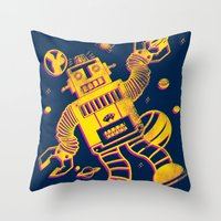 Cosmo Robot Throw Pillow
