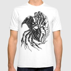 Flea White SMALL Mens Fitted Tee