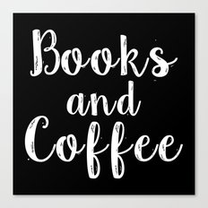 Books and Coffee - Inverted Canvas Print