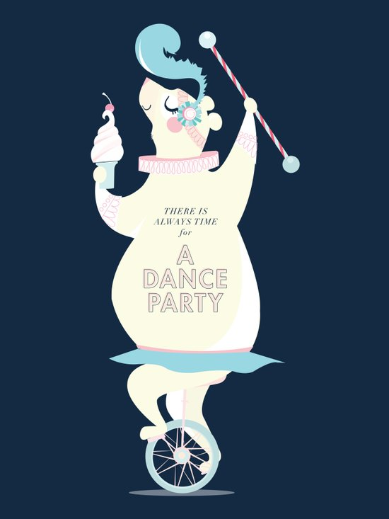 There is always time for a Dance Party (navy) Canvas Print