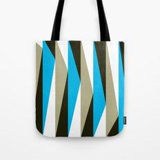 Blue Geometric Triangle Pattern Tote Bag