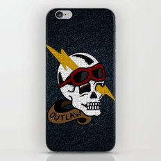 Outlaw Traditional Tattoo Design iPhone & iPod Skin