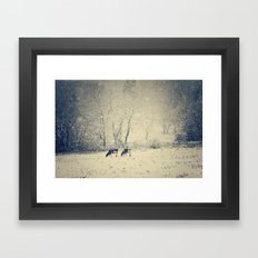 Blizzard meadow Framed Art Print