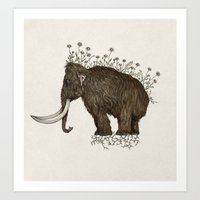 mammoth in bloom Art Print