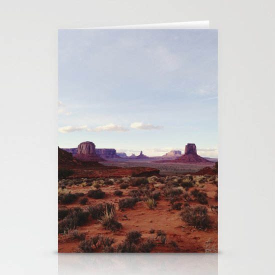 Monument Valley View Stationery Card