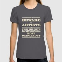 Beware of Artists Womens Fitted Tee Asphalt SMALL
